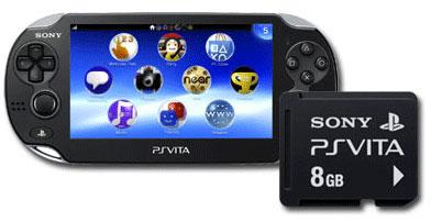 PS Vita con tarjeta de 8GB
