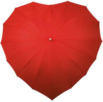 Paraguas en forma de corazón