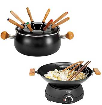 Set de fondue y wok