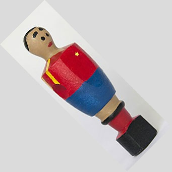 Muñeco de futbolín de la roja