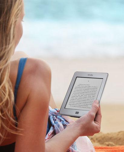 Kindle en la playa