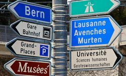 Señales de tráfico suizas